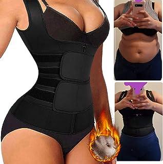 Korsett dragkedja väst för kvinnor träning, midjetränare justerbar kropp fitness formare cincher linne midja formkläder