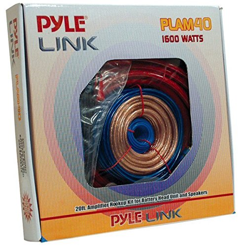 Pyle Car Stereo Wiring Kit - Audio Amplifier & Subwoofer Speaker Installation Cables (4 Gauge)