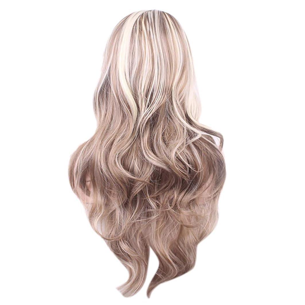 抗議鳴らす落ち着かない女性のセクシーな長い巻き毛のかつら70センチウィッグ