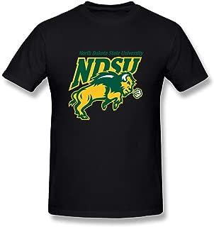 Qinglong81 North Dakota State University T Shirts Men's O Neck Organic Cotton