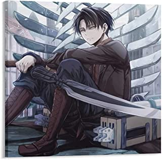 NIUASH Attack on Titan Poster Decorative Painting Canvas Wall Art Living Room Posters Bedroom Painting 24×24inch(60×60cm)