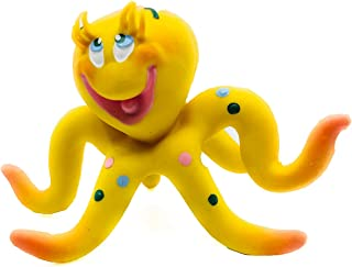 Octopus Dog Toy Natural Rubber (Latex) Lead-Free Chemical-Free Complies with Same Safety Standards as Children's Toys Soft Squeaky