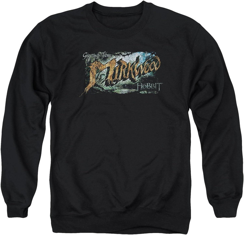 The Hobbit Desolation of Smaug Greetings from Mirkwood Adult Crewneck Sweatshirt Black