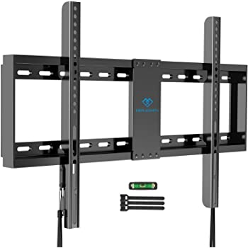 """PERLESMITH Fixed TV Wall Mount Bracket Low Profile for 32-82 inch LED, LCD,and OLED Flat Screen TVs - Fits 16""""- 24"""" Wood Studs, Fix TV Mount with VESA 600 x 400mm Holds up to132lbs"""