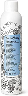 No nothing Very Sensitive Strong Hairspray - Fragrance Free Strong Styling and Finishing Spray, Hypoallergenic, Unscented ...