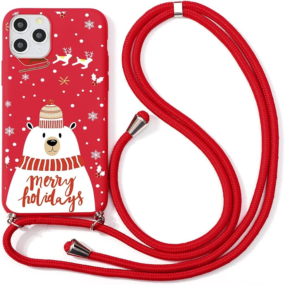 Yoedge Crossbody Case for Xiaomi Mi A1 (Mi 5X), Neck Cord Phone Case with Adjustable Lanyard Strap, Soft TPU Silicone with Cute Pattern Cover Compatible with Xiaomi Mi 5X [5.5