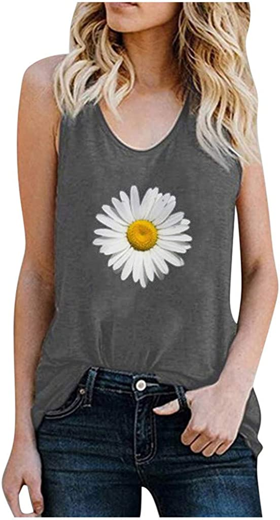 Gerichy Womens Tank Tops Loose Fit,Womens Casual Summer Workout Sleeveless Tank Tees Shirts Blouses Tunics Vest