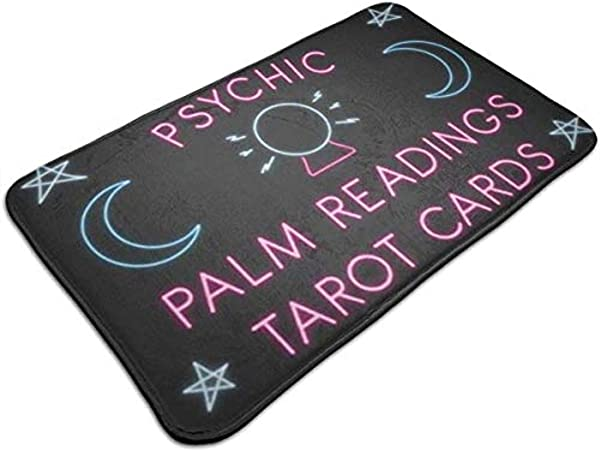 Findguage Doormat 15 7 23 7 Psychic Palm Readings Tarot Cards Entrance Mat Floor Mat Rug Doormat Indoor Bathroom Rubber Non Slip
