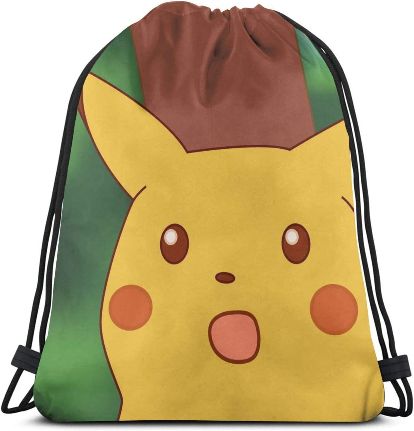 Drawstring Backpack Pink Pig Faces Rucksack