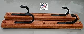 Creative Displays Two Place Gun Rack FlatIron TM Gun Rack Horizontal Hardwood Shotgun Rifle Fishing Rod Hanger (pair) (Handmade in Minnesota)