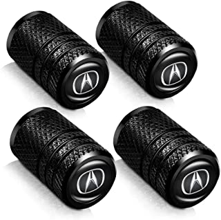 Baoxijie 4 Pcs Metal Car Wheel Tire Valve Stem Caps for Acura RLX RDX MDX ILX TLX Logo Styling Decoration Accessories