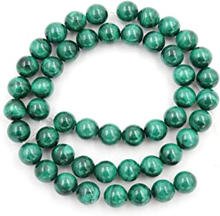 1 Strand Natural Green Malachite Gemstone 8mm Round Loose Stone Beads (44-47pcs) for Jewelry Craft Making GE10-8