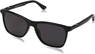 Origins 1 SPL 872 700 Black Plastic Rectangle Sunglasses Grey Lens