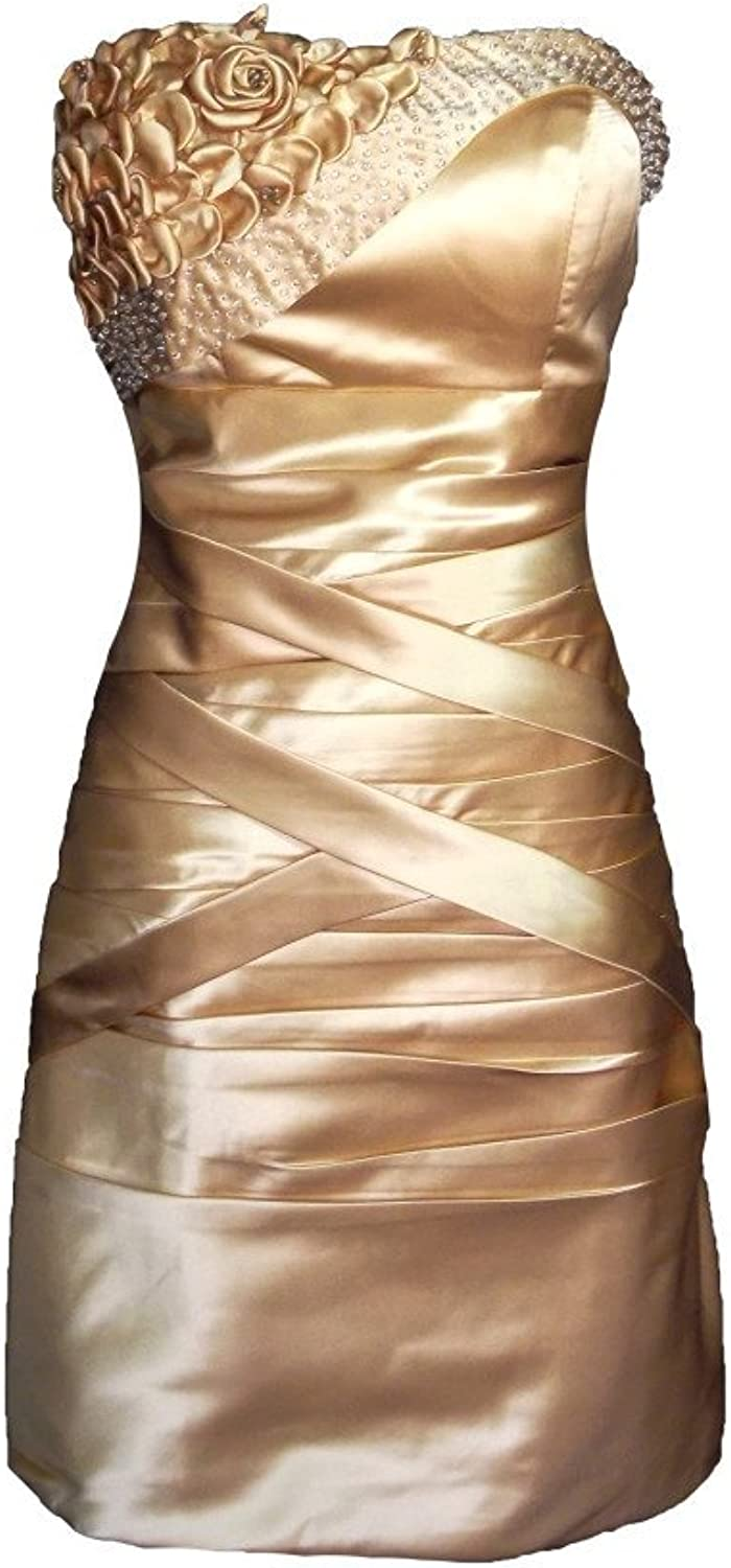 Alivila.Y Fashion Satin Strapless Cocktail Party Prom Formal Homecoming Dress 8233
