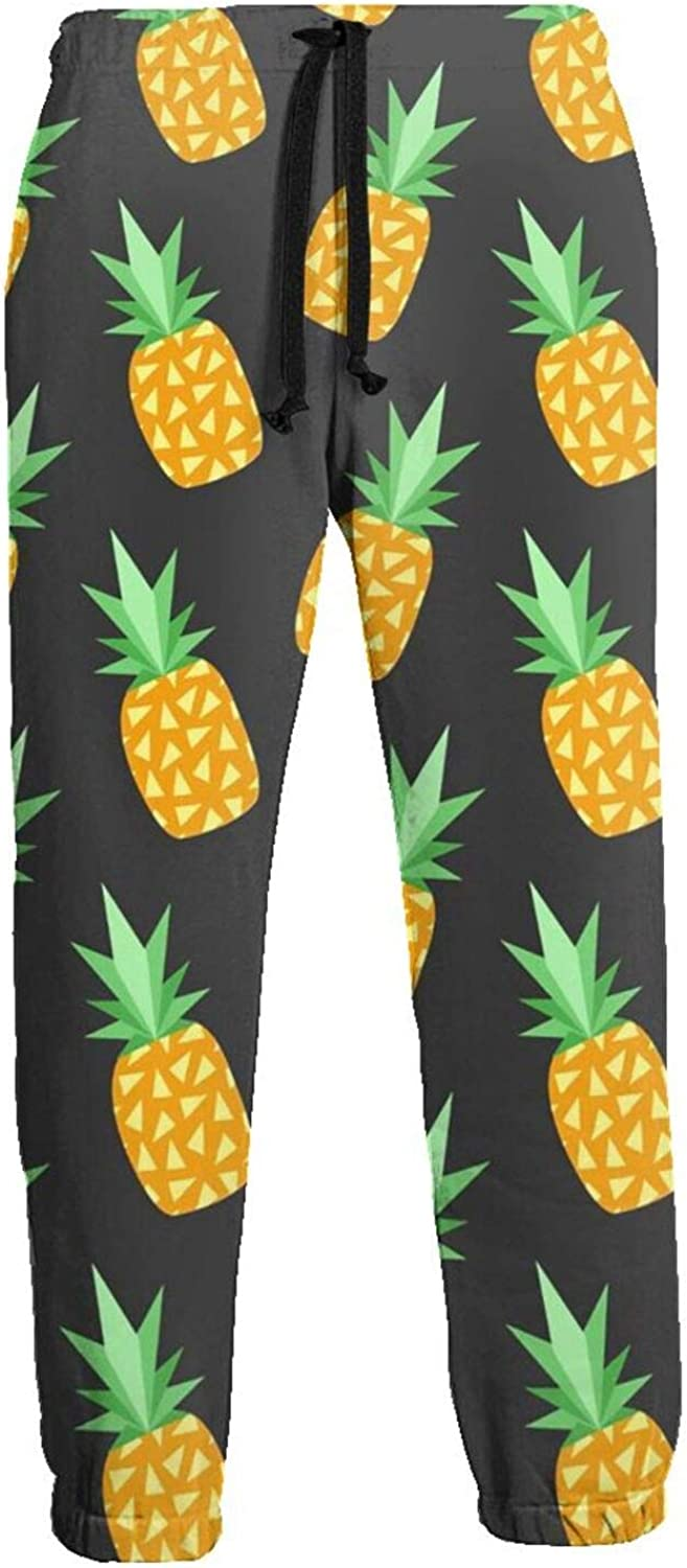 Men's Women's Sweatpants Pineapple Triangle Fresh Athletic Running Pants Workout Jogger Sports Pant