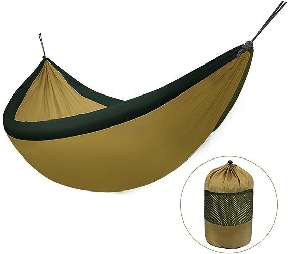 Liuwenan Double hamac extérieur, Toile de Parachute Gonflable, portable pour éviter Le RenverseHommest, Or, 240  173 cm