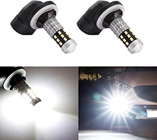 Morefulls Extremely Bright 881 LED Fog Lights With Projector, 360°Beam Angle Also Fit 889 862 886 Fog Lights or DRL (Set of 2)