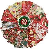 Yuson Girl Sacs Pochettes Sachets Cadeau en Organza Noël avec Cordon Serrage Motif Père Renne Sapin Sac Bijoux Cadeau pour Fête Decoration Noël Mariage Cadeaux Bonbon Anniversaire