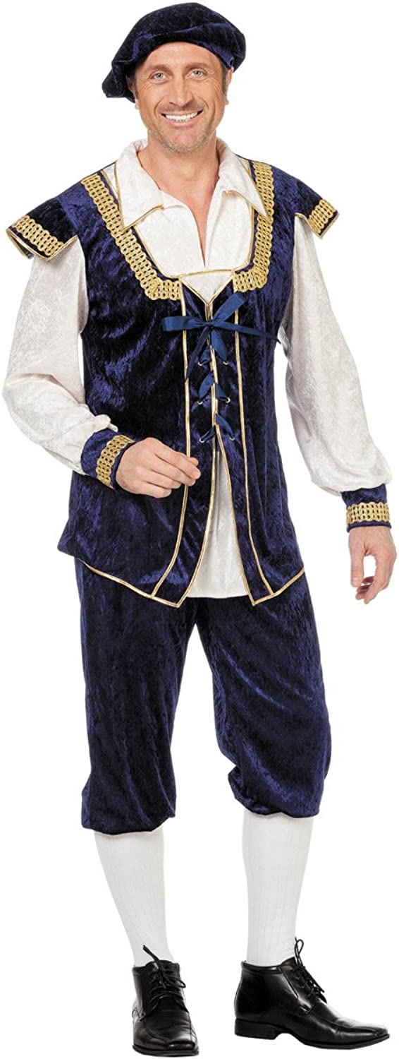 Prince Costume Mr or Man Carnival Costumes bluee and White