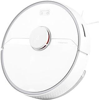 Roborock S6 Pure White - Aspiradora de Alta Potencia de Aspiración Alfombras y superfícies, Tanque de agua 180 ml, Superfi...