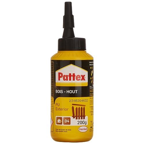 Pattex Biberon de Colle à bois - PU/Bois extérieur - 200 g - Transparent