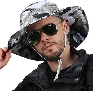 CAMOLAND کلاه Boonie لبه تنفس بیرونی UPF 50 ضد آفتاب مش Safari کلاه برای سفر ماهیگیری