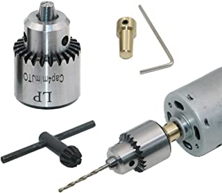Yakamoz Mini Electric Drill Chuck 0.3-4mm JTO Taper Mounted Lathe For 1/8 Inch/ 3.17mm Motor Shaft