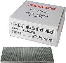 Makita F-31838 25mm 23g Headless Pins (Doos van 10 000), Zilver