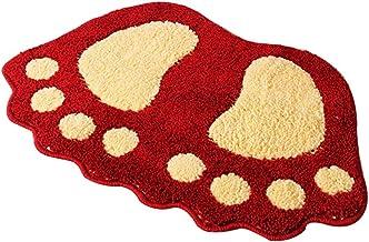 Bath Mat Machine Washable Cotton Bath Mats Quick Dry Shower/Bathtub Step Out Bath Rug - Soft, Anti-Skid Plush & Super Abso...