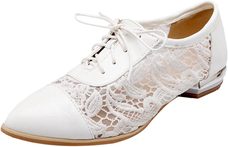 FizaiZifai Women Fashion Lace Up Pumps shoes