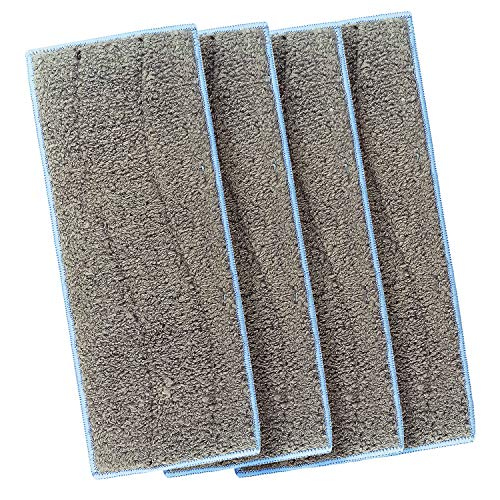 Licorne 4 Pack Mop Heads Washable Wet Mopping Pads Compatible Braava Jet M Series, Wet Sweeping Reusable Replacement Pads Compatible iRobot Braava Jet M6(6110) Mop