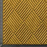 WaterHog Diamond | Commercial-Grade Entrance Mat with Rubber Border – Indoor/Outdoor, Quick Drying, Stain Resistant Door Mat (Yellow, 4' x 6')
