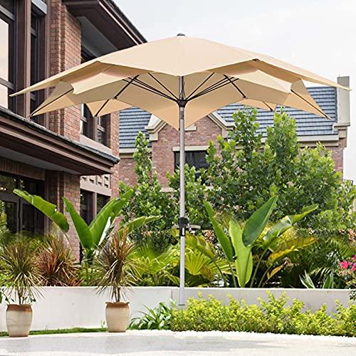 FACC Sombrillas Terraza Bar 274cm, Parasol Terraza Grande, Sombrilla Jardin Exterior, Varilla De Aleación De Aluminio, con Manivela E Inclinable, para Césped Terraza Patio Trasero