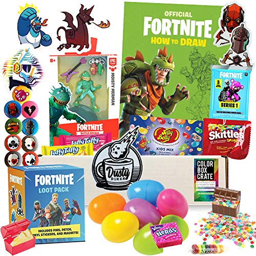 Big Save! Battle Royale Easter Basket Care Package, 20pc Set, Easter Toys with Gaming Action Figure,...