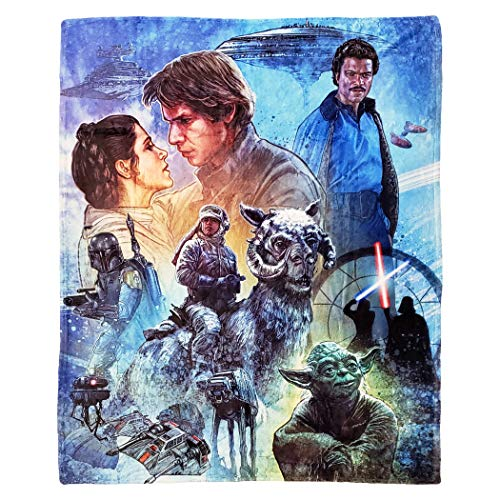 Disney Star Wars Empire Strikes Back Überwurfdecke, 127 x 152,4 cm, Mehrfarbig