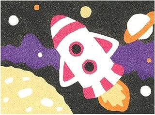 Sandtastik Preschool Craft Peel N Stick Sand Art Board #15 - Rocket Over The Moon