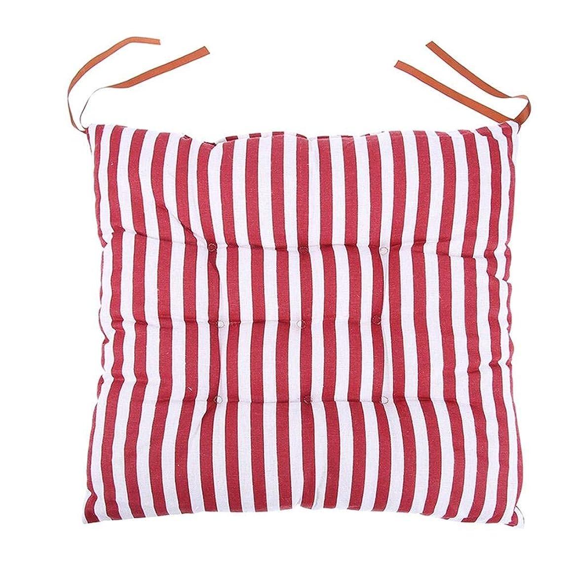 緩める不倫熱Livemarket 屋外の庭のオフィスの椅子のクッションパッドの柔らかい綿の麻布を食べる椅子の座席パッドのクッションのタイ (レッド)