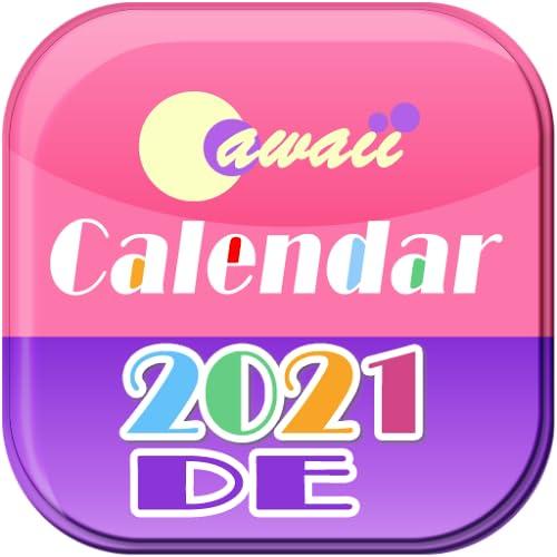 Deutschland 2021 Cawaii Kalender für Fire tablet