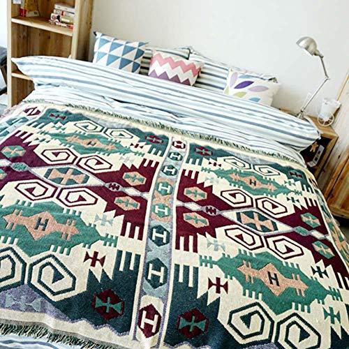 Oumefar Alfombra de Manta Tiro de sofá de Doble Cara Tejido Ampliamente con picnics al Aire Libre para Acampar en Silla(Turtle Flower)