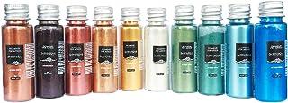 Resin Pro - 10 x 10 GR SAHARA Pearline Pigments - Kits de Pigments Métalliques Mélangés, Compatibles avec l'Èpoxy, le Poly...