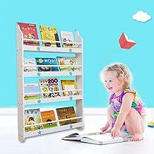 Children's bookshelf Mural Simple Multi-Fonctions en Bois Massif Multicouche Multicolore Environnementale Maternelle Ou De...