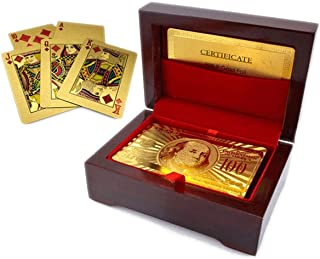 Luxurious 24K Gold Plated Playing Cards with Case - Make Your Magic Tricks More Luxurious & Creative for Family & Friends