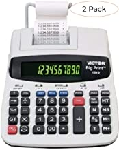 $256 » Victor 1310 Big Print Commercial Thermal Printing Calculator, Black Print, 6 Lines/Sec (Twо Расk)