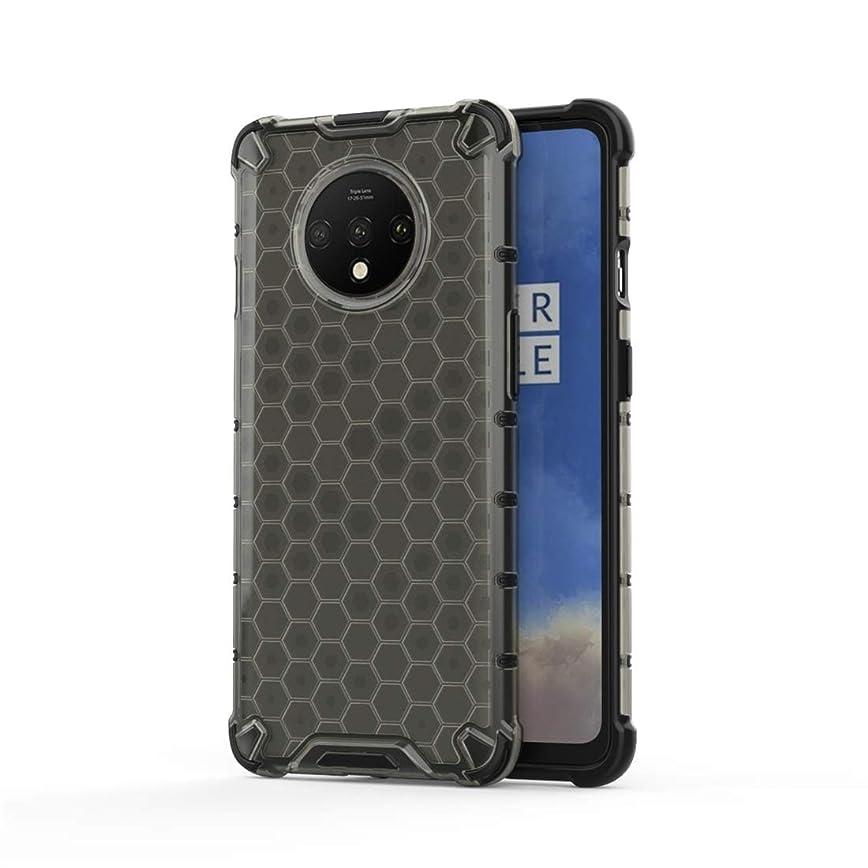 弱めるぶどう争うOnePlus 7T耐震ハニカムPC + TPUケース用 brand:TONWIN (Color : Black)