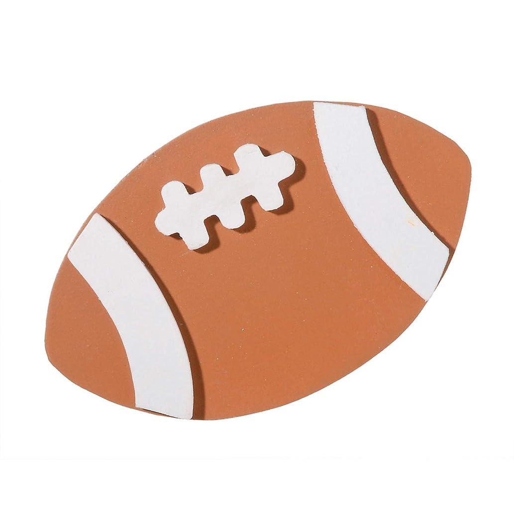 Bulk Buy: Darice DIY Crafts Painted Wood Shape -Football- 2.5 x 4 inches (12-Pack) 9199-53