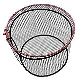 JINKING 玉網 折畳み式 ラバーネット アルミフレーム 釣りネット 折りたたみ玉枠 ランディングネット コンパクト 釣りタモ (直径:45cm)