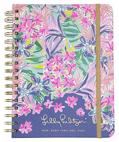 Lilly Pulitzer Large 2020-2021 Planner Weekly & Monthly, Dated Aug 2020 - Dec 2021, 17 Month Hardcover Agenda with Notes/Address Pages, Stickers, Pocket, Laminated Dividers, It Was All A Dream