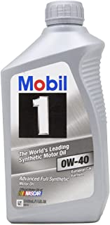 Mobil 1 98KG00 0W-40 Synthetic Motor Oil - 1 Quart