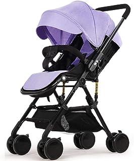 Lätt barnvagn med vändbart styre, bärbar hopfällbar vagn resa buggy från födseln till 15 kg
