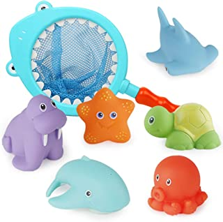 Richgv Kids Bath Toys Non-Toxic Funny Bathtub Toys Early Educational Toys Gifts for Boys Girls Toddlers Swimming Pool Home...